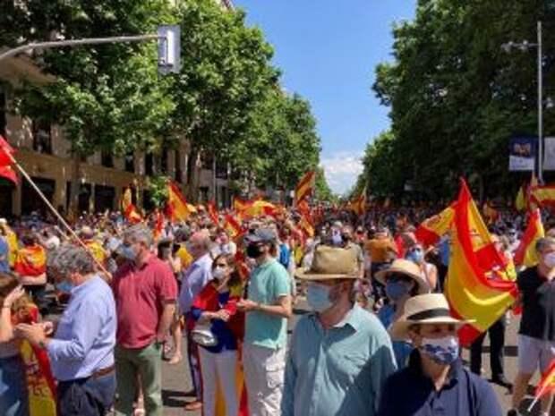 В Мадриде началась многотысячная акция против помилования лидеров Каталонии