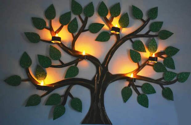 Нетривиальный настенный светильник, который очень легко сделать