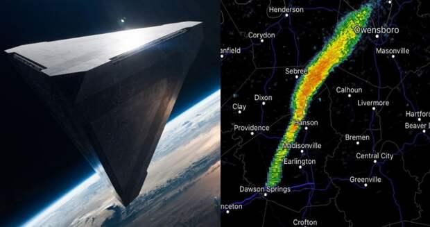 80-ти километровый НЛО над Америкой перепугал Национальную службу погоды США