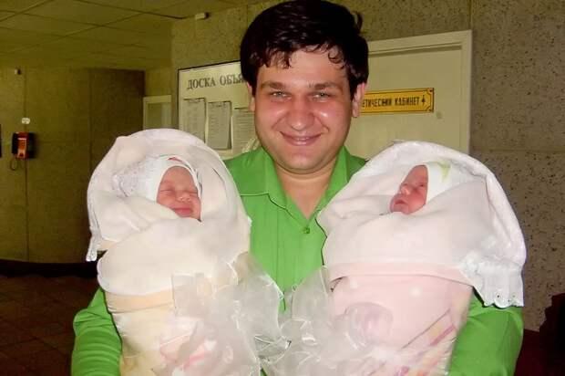 25 фото счастливых пап с двойнями дети, отец, папа