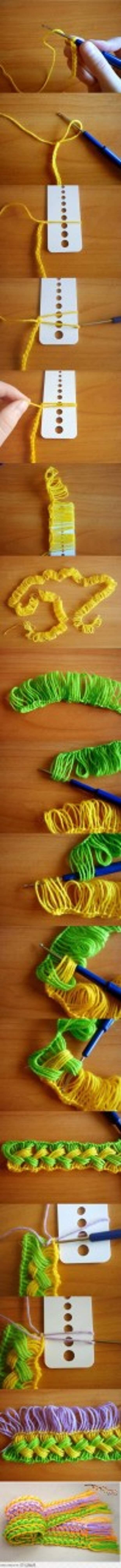 Необычный шарфик крючком