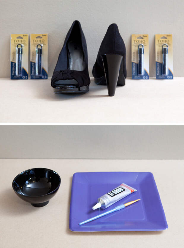 DIY бисера Высокие каблуки через Что-то Бирюзовый
