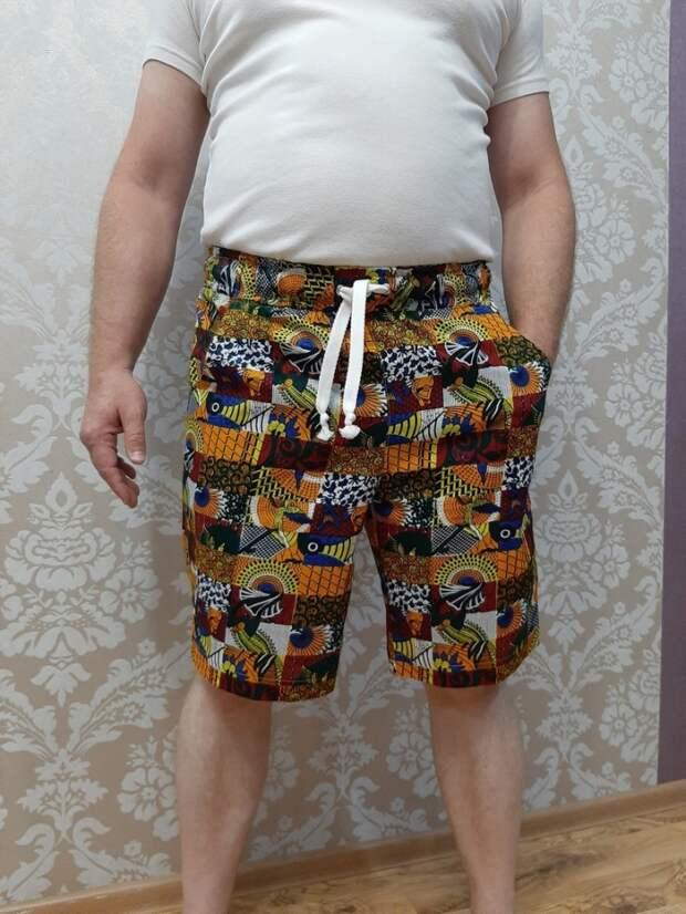 Выкройка мужских длинных шорт