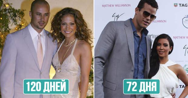 Самые быстротечные браки знаменитостей