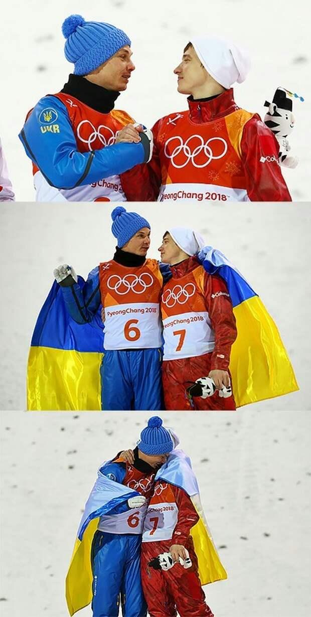 Один народ,который так умело разъединили. олимпиада, Украина, Россия, обнимашки