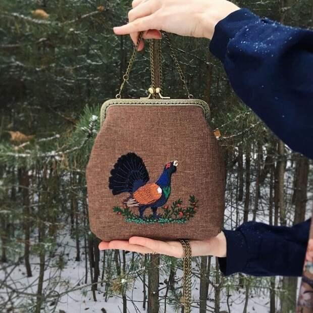 Художница создает сумки, вдохновляясь очаровательными лесными созданиями и природой