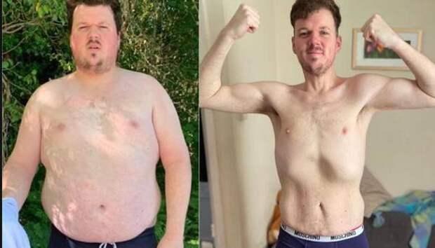 Британец резко похудел на 80 кг после того как поднялся по лестнице вверх
