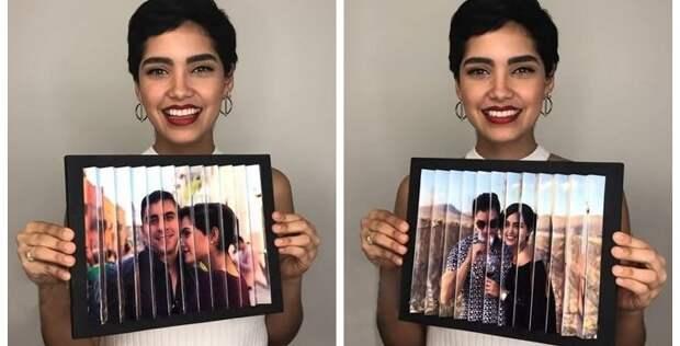 Два фото в одной раме — необычное решение при помощи оптической иллюзии