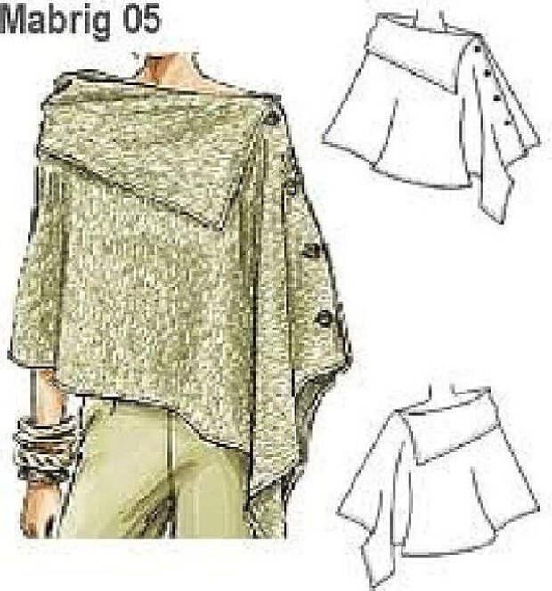 Простые идеи для шитья, или Как легко украсить себя осенью. Часть 3, фото № 15