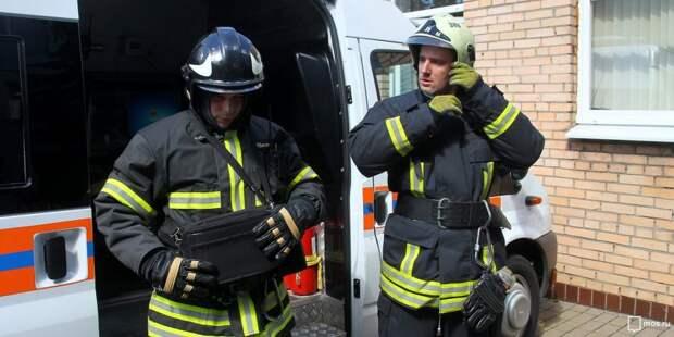 Пожарные ликвидировали возгорание на улице Полины Осипенко