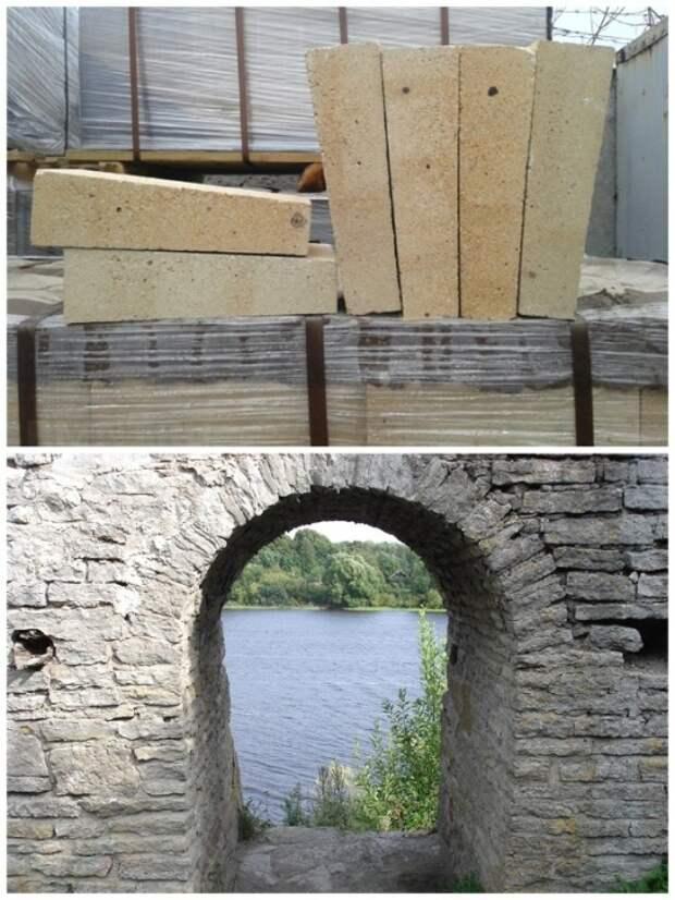 С помощью клиновидного кирпича или камня можно сделать сводчатый потолок и без цементного раствора.   Фото: pinterest.com.