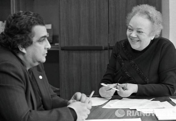 Абел Аганбегян и Татьяна Заславская