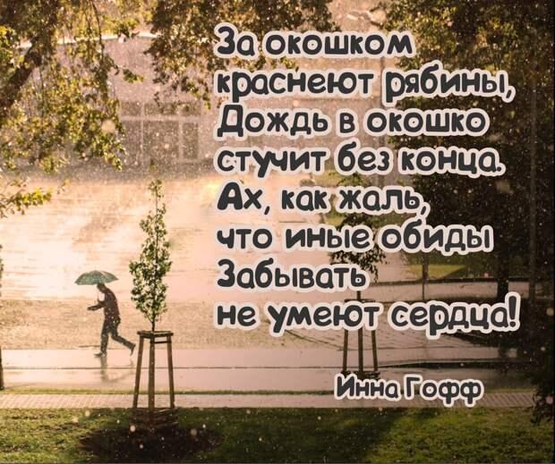 История одного стихотворения. Инна Гофф «Скоро осень, за окнами август».