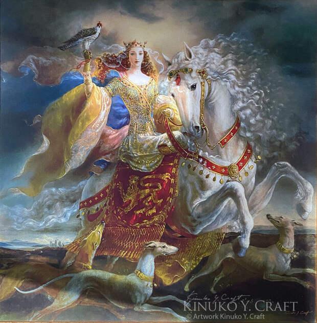 Кинуко Крафт «Портрет Алиеноры, королевы Англии»