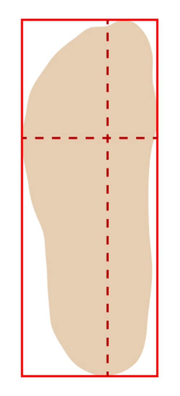 обведенная стопа форма