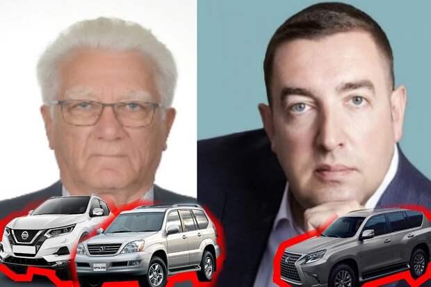 Машины Далхата Байдаева и самый бедный депутат Илья Дроздов с авто жены. Фото: Евгения СОКОРЕВА