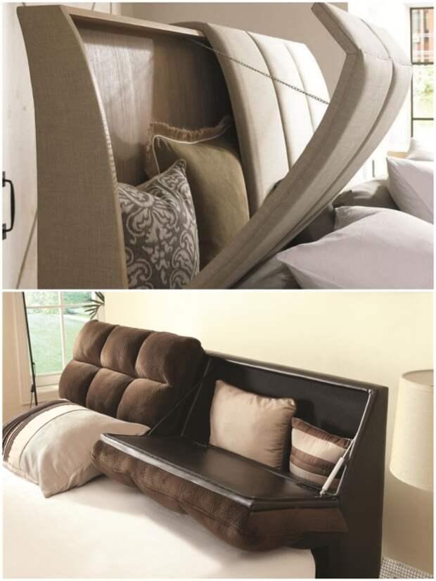 Кровати со встроенными системами хранения можно приобрести и в мебельном салоне.   Фото: mychildroom.ru/ pinterest.com.