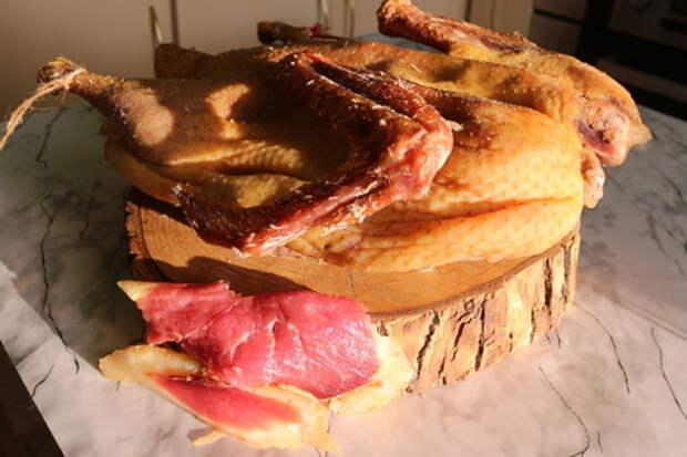 Вяленая утка целиком.  нежное деликатесное мясо: фото шаг 9