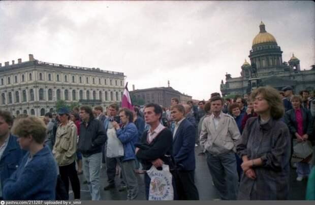 Питер против ГКЧП. история, факты, фото