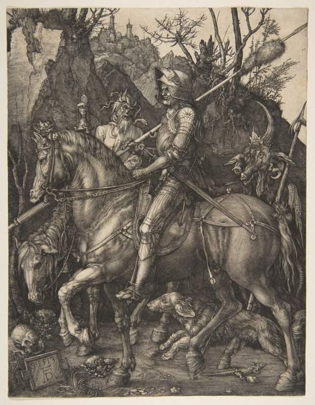 Альбрехт Дюрер «Рыцарь, смерть и дьявол»