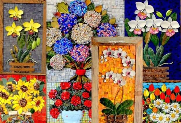 Невероятный декор из мозаики. Многие из них обладают 3D-эффектом