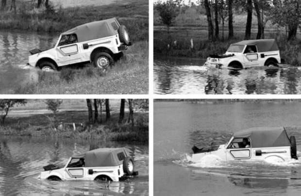 Машина, которая по воде рассекает также лихо, как по земле. /Фото: livejournal.com