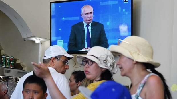 Прямая линия с Владимиром Путиным побила рекорд популярности в интернете