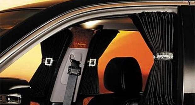 Российских автомобилистов могут оштрафовать за автомобильные шторки и сетки