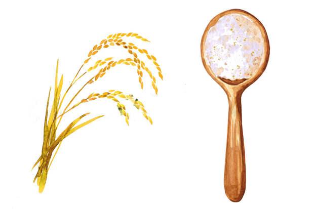 Мука без глютена —рисовая