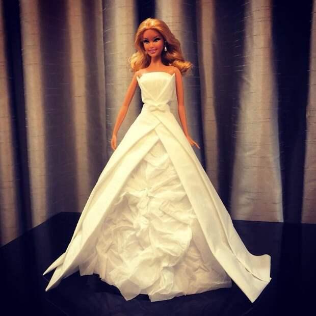 Свадебные платья из салфеток
