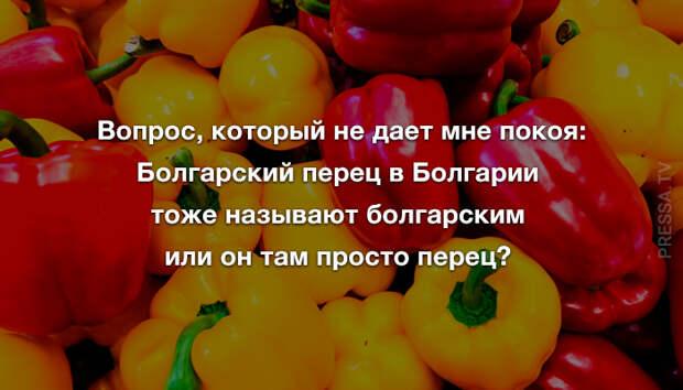 Анекдоты и болгарский перец