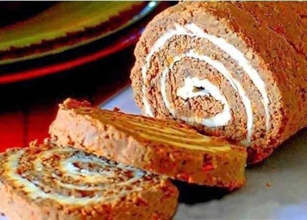 Печеночный рулет с сырной начинкой - фантастический вкус и красота!
