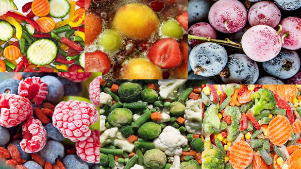 Замороженные фрукты и овощи - вред и польза
