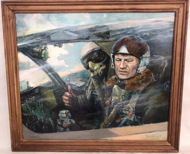 Накануне Нового года однокурсник Борис Ишков подарил Александру Ренёву картину, которую сам нарисовал. На заднем плане можно разглядеть авианосец