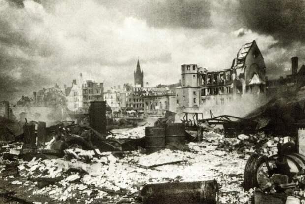 Кёнигсберг после налета английских ВВС.