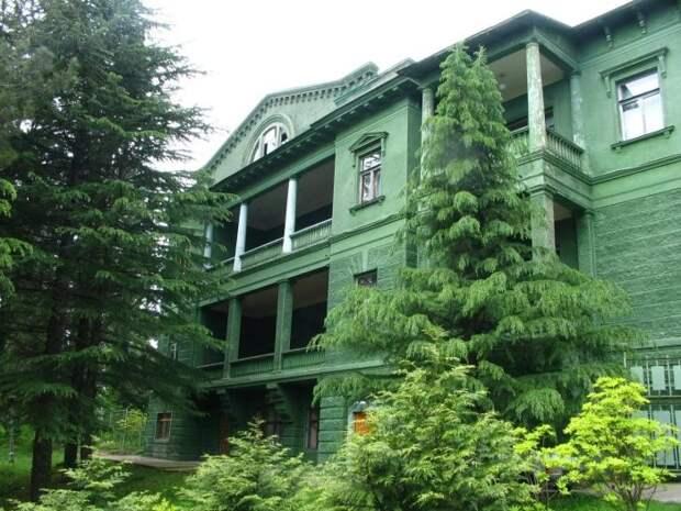 Фасады всех дач были окрашены в зеленый цвет, чтобы с воздуха их было незаметно («Новая Мацеста», Сочи). | Фото:  diletant.media.