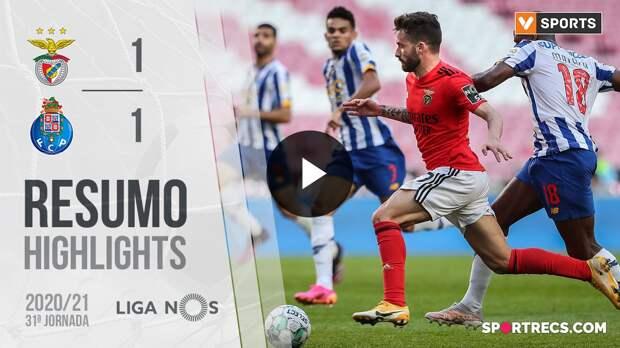 Highlights: Benfica 1-1 FC Porto (Liga 20/21 #31)