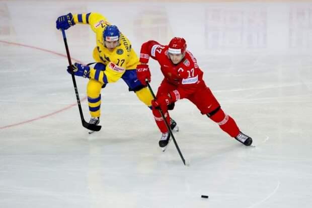 Сборная Белоруссии победила команду Швеции на чемпионате мира в Риге