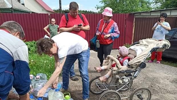 В Подольске медикам стали доставлять питьевую воду