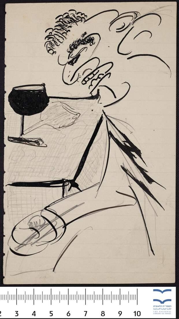 Это рисунки Франца Кафки — их опубликовала Национальная библиотека Израиля после многолетней борьбы за архив и реставрации