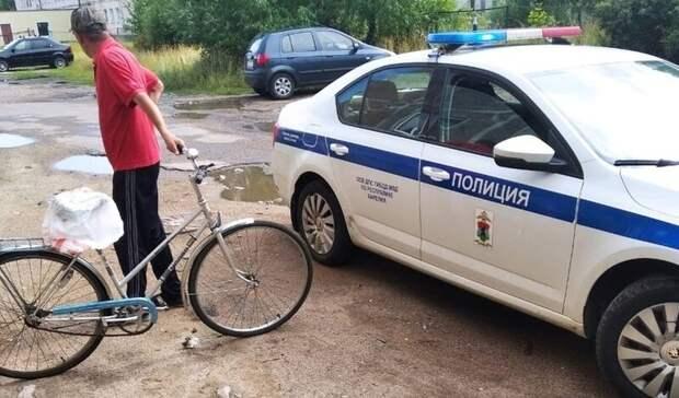 Велосипедист пожалел, что проехал по пешеходному переходу в Карелии