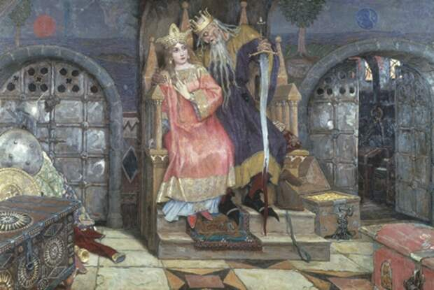 В. Васнецов. Марья Моревна и Кощей Бессмертный