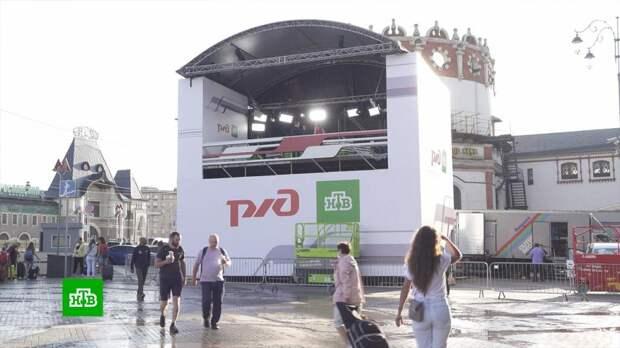 В Москве установят выездную студию НТВ ко Дню железнодорожника