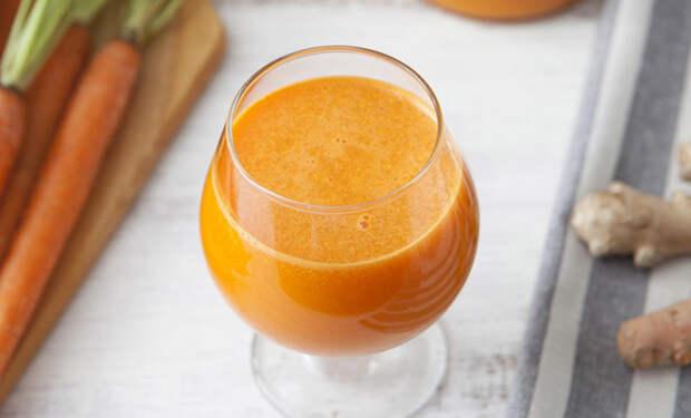 Морковь и сушеный имбирь: смешали в блендере и получили напиток для сброса веса