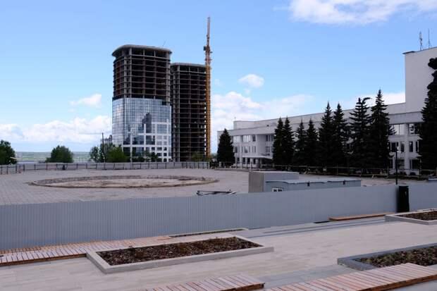 Благоустройство пространства у круглого фонтана на Центральной площади Ижевска начнется летом