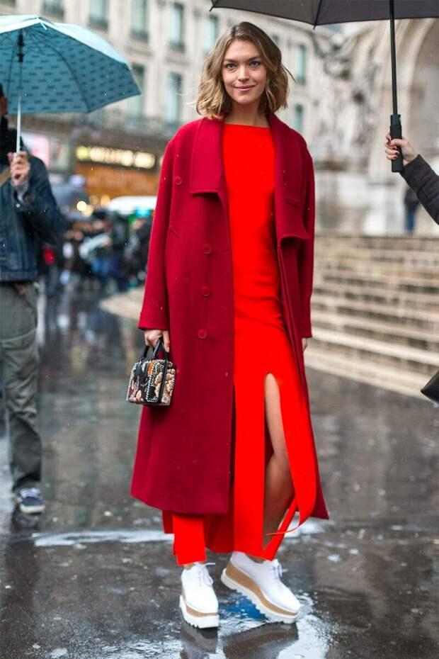 Девушка в платье и пальто. /Фото: ratatum.com