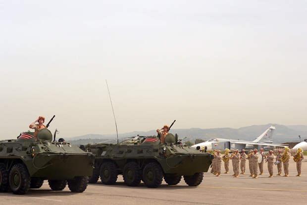 Военный парад в честь Дня Победы прошел на российской базе в Сирии