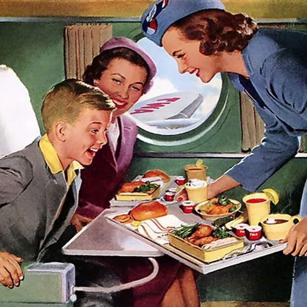 Еда в самолетах. История высокой кухни