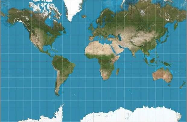 Земля. Проекция Меркатора