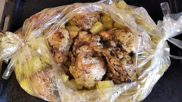 Картошка в пакете для запекания. Быстро, вкусно и сытно